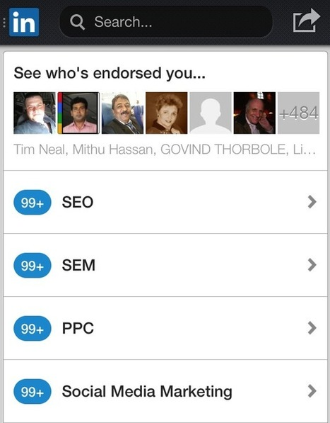 LinkedIn Brings Endorsements to Mobile | The Content Marketing Hat | Scoop.it