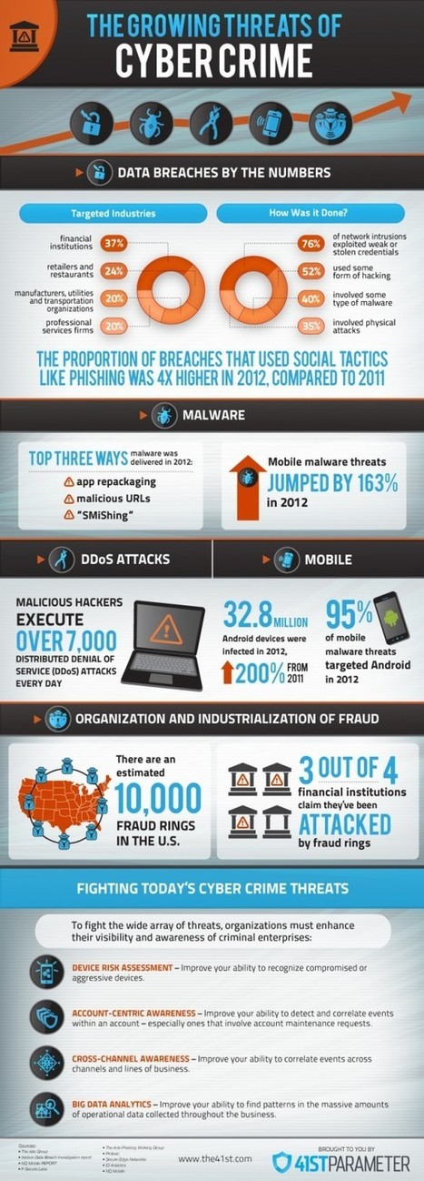 The Growing Threats of Cyber Crime | Infographics World | Nervepoint Technoloiges | Scoop.it