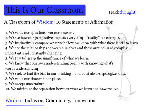 Our Classroom Of Wisdom: 10 Statements of Affirmation | Leadership, Innovation, and Creativity | Scoop.it