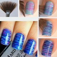 using a fan brush for nail designs   Nails   Scoop.it