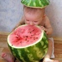 A cute baby eating a Watermelon | 2 dogs are very happy | Scoop.it