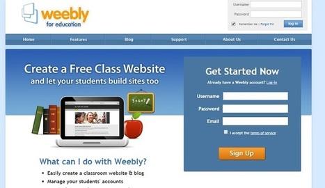 ¿Cómo crear un sitio web para tu clase usando Weebly? | Varias herramientas digitales | Scoop.it