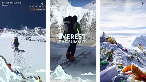 Snapchat's Everest Live Story shows app's heightened programming | Video Marketing Strategy | Scoop.it