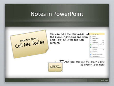 Create a 3M Post It in PowerPoint using shapes and styles | Digital Presentations in Education | Scoop.it