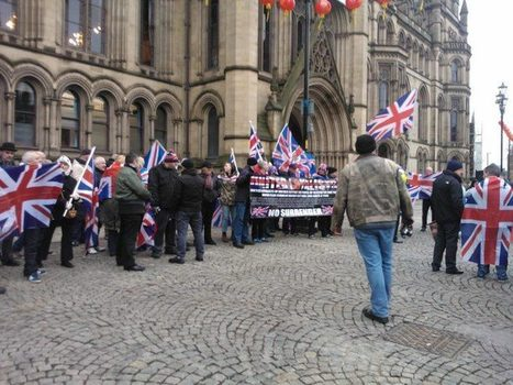 British National Party members join in Manchester Union Flag Protest   The Indigenous Uprising of the British Isles   Scoop.it
