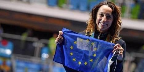 Elisa Di Francisca a brandi le drapeau européen sur le podium | L'Europe en questions | Scoop.it