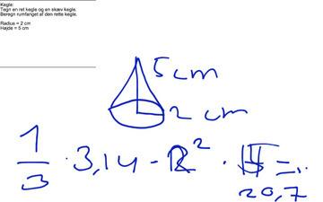 Kegles rumfang | UCV Geometri st. grp. 4 Hold 3 | Scoop.it