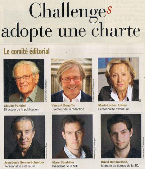 Challenges adopte une charte   DocPresseESJ   Scoop.it