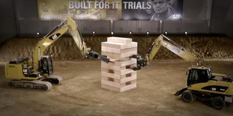 VIDÉO. Jenga, le jeu de société: Caterpillar organise une partie de ... - Le Huffington Post | Engins de chantier et grues | Scoop.it