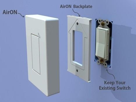 AirON ou l'éclairage domotique sans toucher à l'électricité - Abavala !!!   domotique   Scoop.it