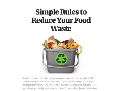 Simple Rules to Reduce Your Food Waste | Rubbish removal | Scoop.it