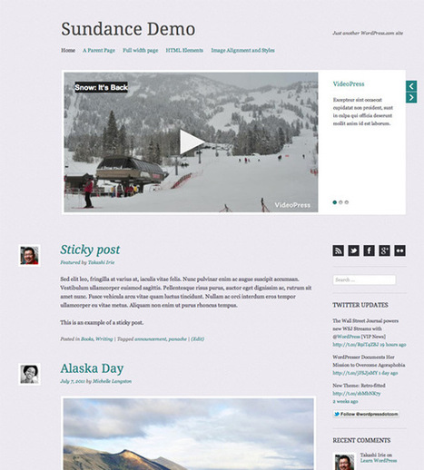 Sundance - Crafted With Clean, Elegant Typography and Close Attention to Detail Free Download | Wordpress | Scoop.it