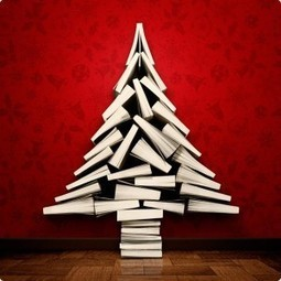 How Many Christmas Trees Does It Take To Make 12 Christmas Trees Made Out Of Books? | Life of a LIBRARIAN | Scoop.it