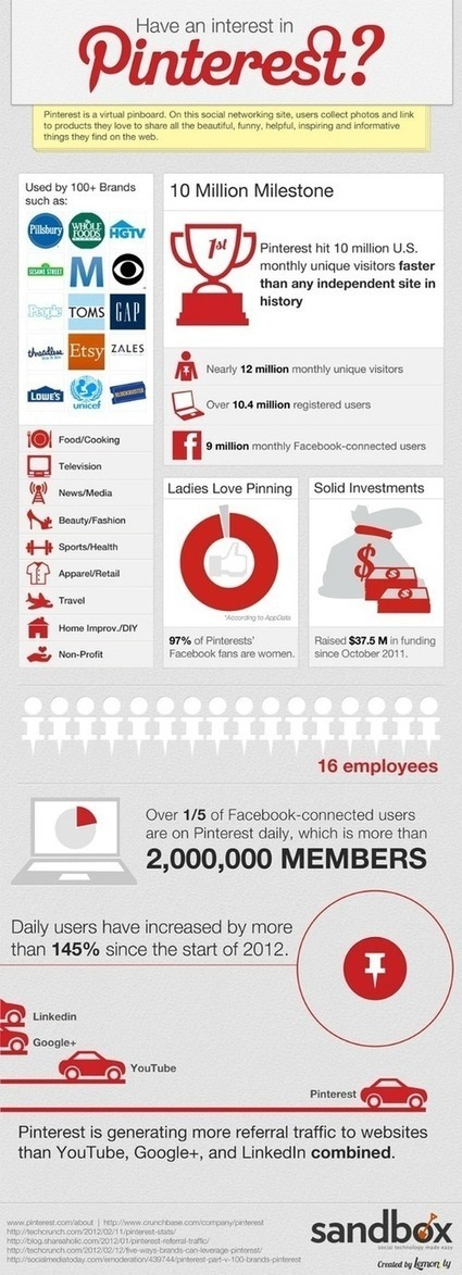 Pinterest Is Hot [Infographic] | visualizing social media | Scoop.it