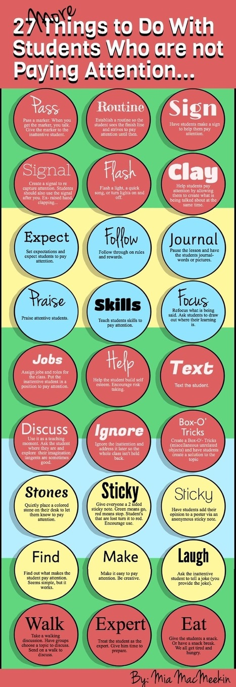 27 effective ways to get students to pay attention - Daily Genius | Into the Driver's Seat | Scoop.it