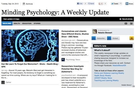 Sept 4 - Minding Psychology: A Weekly Update | Psychology Professionals | Scoop.it
