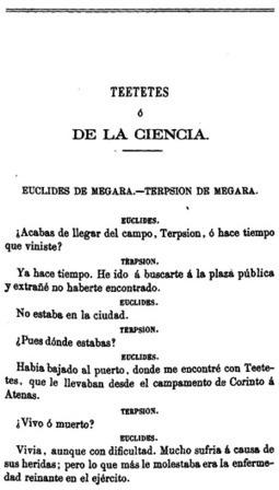 Platón, Teetetes o de la ciencia, Obras completas de Platón, Madrid 1871 | Luis Villoro CYC | Scoop.it