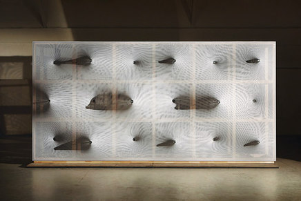 """Barkow Leibinger's """"Kinetic Wall"""" prototype exhibited at the Venice Biennale 2014 