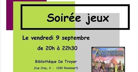 Escapages: Soirée jeux à la Bibliothèque De Troyer | Escapages | Scoop.it