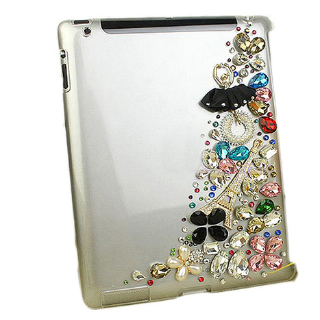 $ 49.99 Luxury Rhinestone Girl and Flowers Carrying Case for iPad 3&iPad 4 | bagsq | Scoop.it