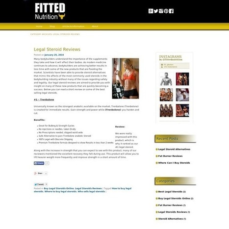 Legal Steroids Reviews Archives - Fitted Nutrition   Fat Burner Reviews   Scoop.it