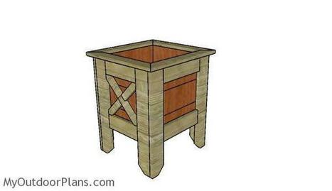 Square Planter Box Plans | MyOutdoorPlans | Free Woodworking Plans and Projects, DIY Shed, Wooden Playhouse, Pergola, Bbq | Garden Plans | Scoop.it