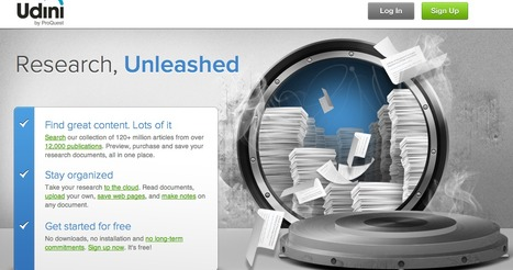 Udini - Research Unleashed | information analyst | Scoop.it