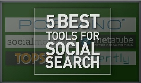5 Best Tools for Social Search | Social media culture | Scoop.it