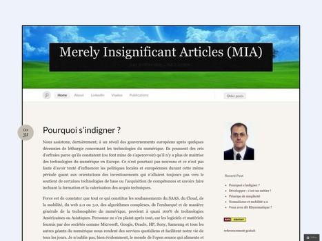 Merely Insignificant Articles (MIA) | Tout Numérique en Garonne | Scoop.it