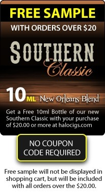 Last Chance to try New Southern Classic E-liquid - Free Sample Promo Ends Soon | E-Cigarettes | Halo Cigs | Scoop.it