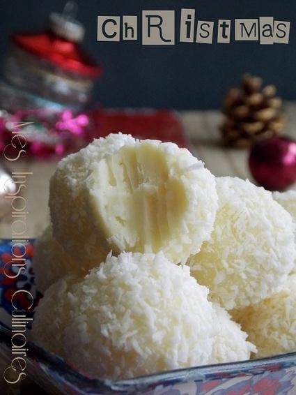 Truffes chocolat blanc et noix de coco | Le Blog de Samar | Recettes de fetes | Scoop.it