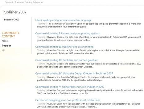 Publisher 2007 - Training - Office.com | Free Tutorials in EN, FR, DE | Scoop.it