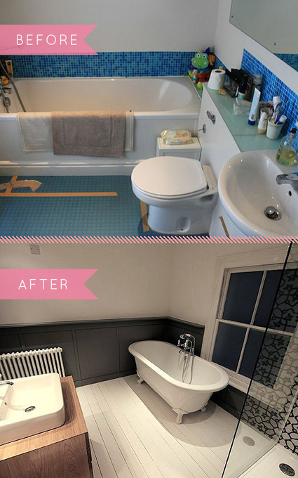 Before & After: A Bold, Black & White Bathroom Transformation | Mynspiration déco | Scoop.it
