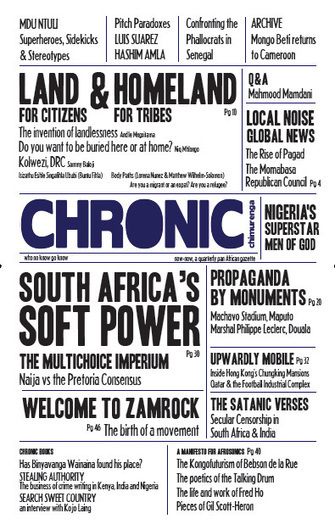 The Chimurenga Chronic, now-now - first print issue of pan-African gazette | Global Politics - Yemen | Scoop.it