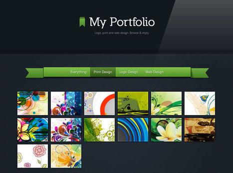 Making a Beautiful HTML5 Portfolio   Tutorialzine   UI Design Inspiration   Scoop.it