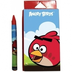 Angry Birds 12 Color Wax Crayons | Webworld | Scoop.it