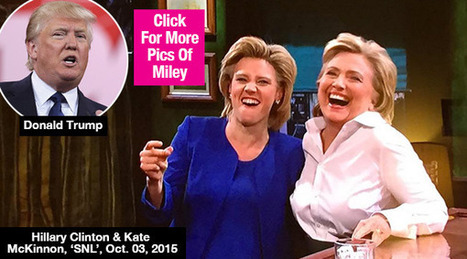 Hillary Clinton Mocks Donald Trump In Hilarious 'SNL' Skit — Video - Hollywood Life | CLOVER ENTERPRISES ''THE ENTERTAINMENT OF CHOICE'' | Scoop.it
