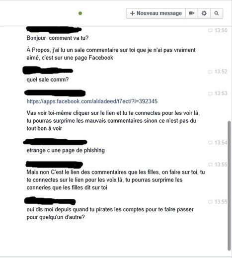 J'ai lu un sale commentaire sur toi: méfiez-vous des arnaques sur Facebook, la dernière est très bien réalisée | Communication et réseaux | Scoop.it