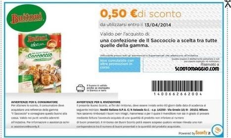 Buoni sconto Saccoccio Buitoni | Coupon e buoni sconto per la spesa alimentare | Scoop.it