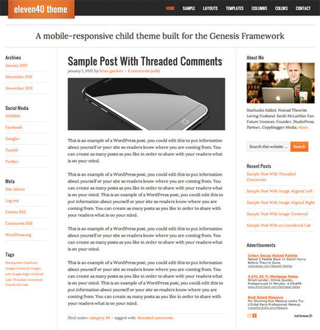 eleven40 1.0 Child Theme Available | DIY WordPress | Scoop.it