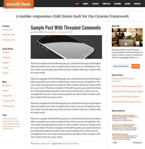 eleven40 1.0 Child Theme Available | DIY WordPress | Scoop.it