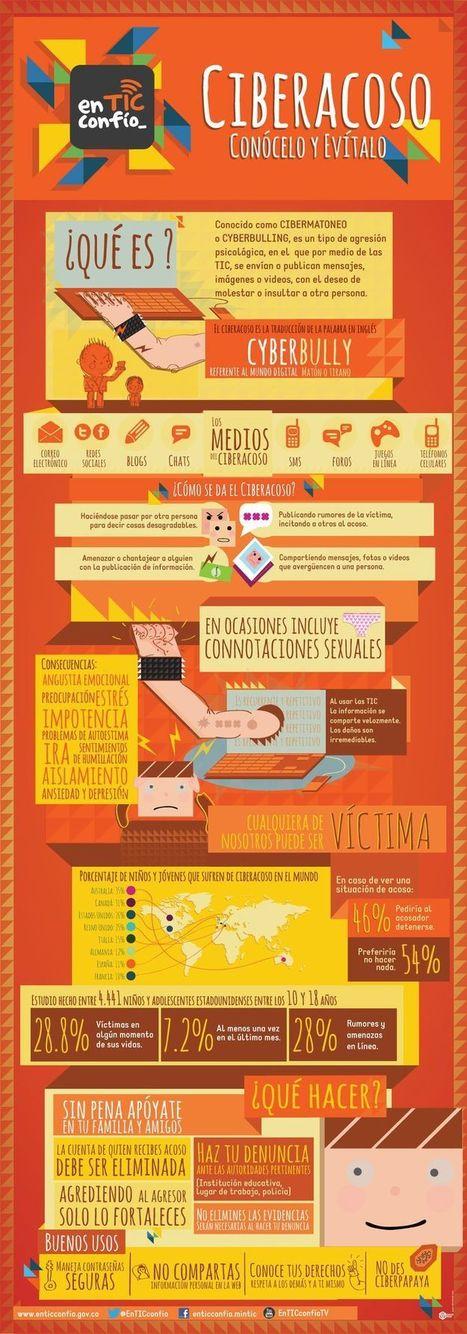 Infografía sobre cómo actuar ante un caso de CIBERACOSO - Inevery Crea | Educacion, ecologia y TIC | Scoop.it