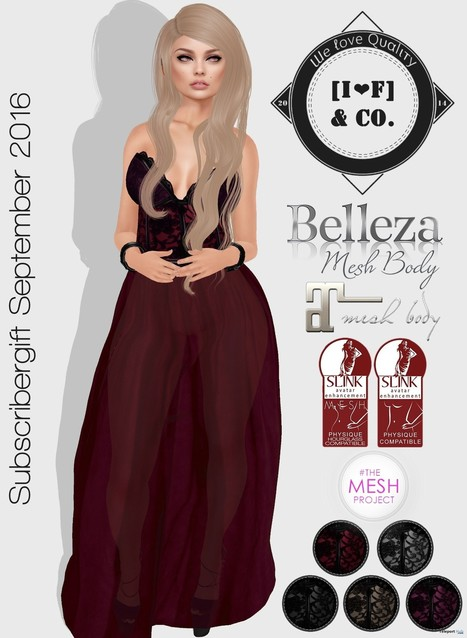 Long Dress 5 Colors September 2016 Subscriber Gift by I | Second Life Freebies | Scoop.it