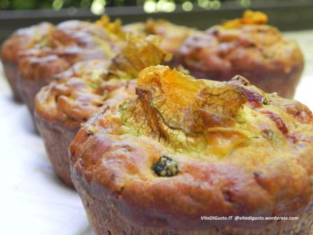 Muffins salati di zucchine e prosciutto   VitaDiGusto.IT   Scoop.it