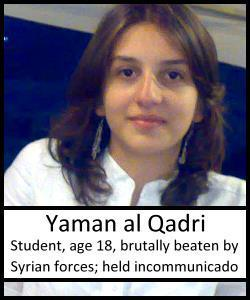 Take Action! Demand the Syrian Regime Release Teen-Age Med School Student Yaman AlQadri!   Human Rights and the Will to be free   Scoop.it