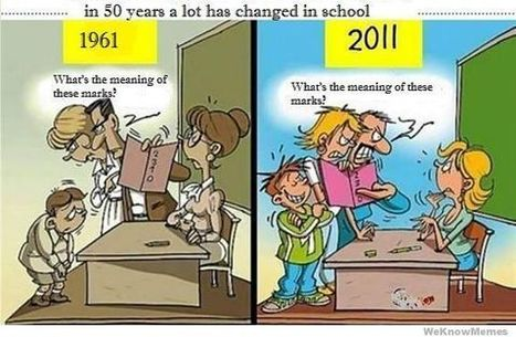 In 50 Years A Lot Has Changed In School | WeKnowMemes | Social media and education | Scoop.it