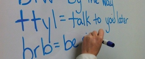 Texting language seeps into academic work | International Literacy Management | Scoop.it