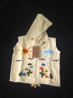 Bestickte weiße Kinder Kapuzen Weste, ökologischer Pima Cotton | Produkte aus Peru | Scoop.it