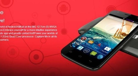 Micromax Canvas Entice with latest Android Kitkat 4.4 launched for Rs. 6.999 | Buzzlatest | Latest Buzz | Scoop.it