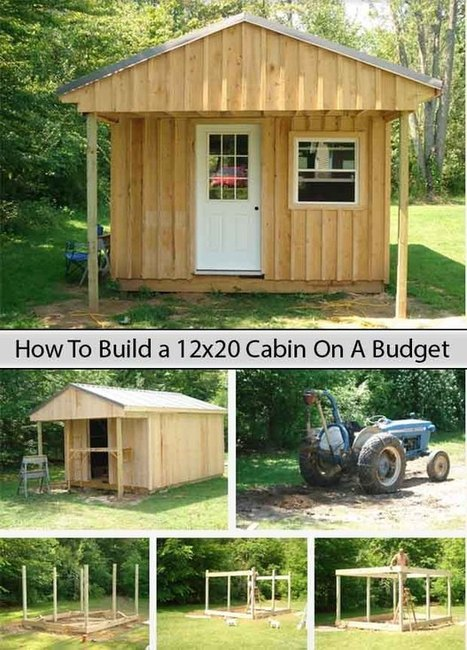 How To Build a 12x20 Cabin On A Budget - LivingGreenAndFrugally.com | DIY Homestead | Scoop.it